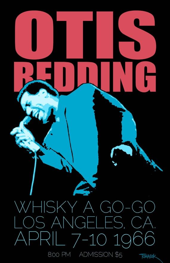 for the living room Otis Redding 1966 Tour Poster by Tomasek on Etsy, $25.00