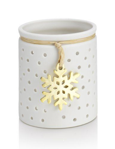 Snowflake Ceramic Tealight Holder - Marks & Spencer