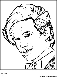 dr who coloring pages matt smith