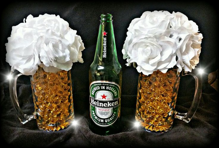 Beer mug Centerpieces | Crafts by Joy in 2019 | Beer ...