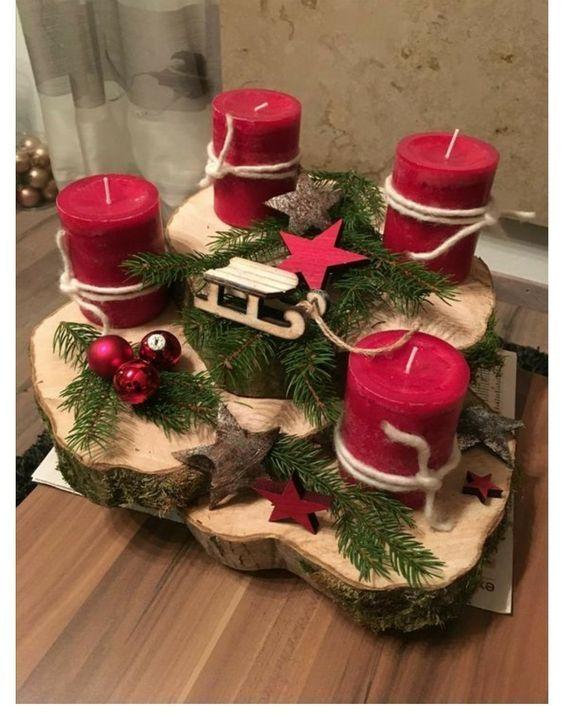 50+ Holiday Red Candlestick Art Design-Ideen