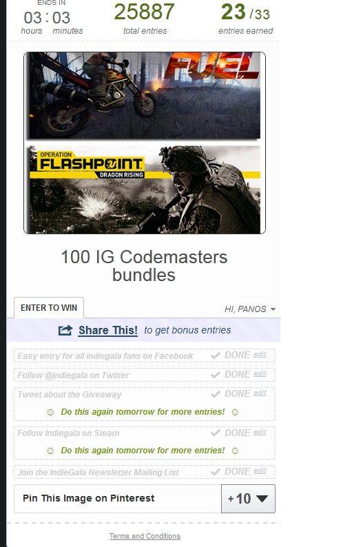 The IndieGala CodeMasters Bundle