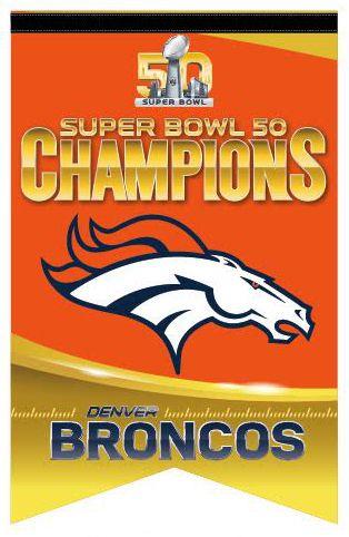 Denver Broncos Super Bowl 50 Champions Premium Felt Collectors BANNER - Wincraft