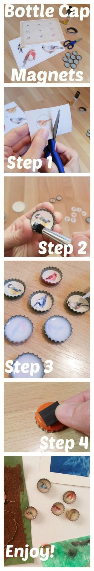 #Organize Your Life With Custom Bottle Cap Magnets for Your Fridge #DIY