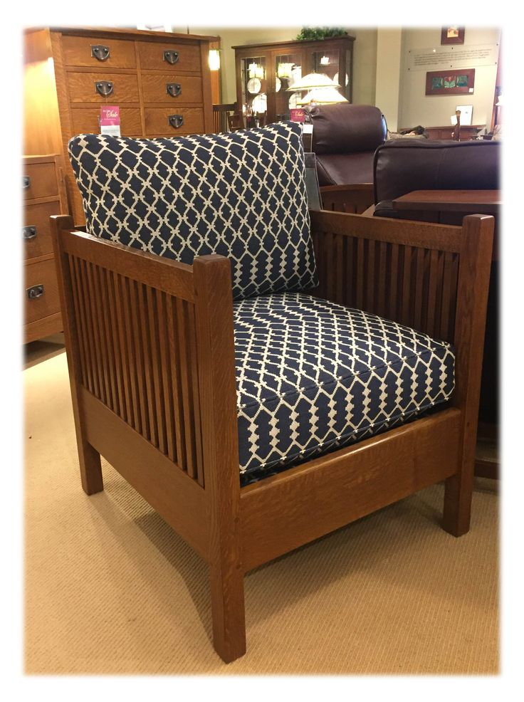 Case In Point  A Deep Navy And Cream Pattern Amplifies The Gorgeous Lines  Of Stickley Furnitureu0027s Cube ...