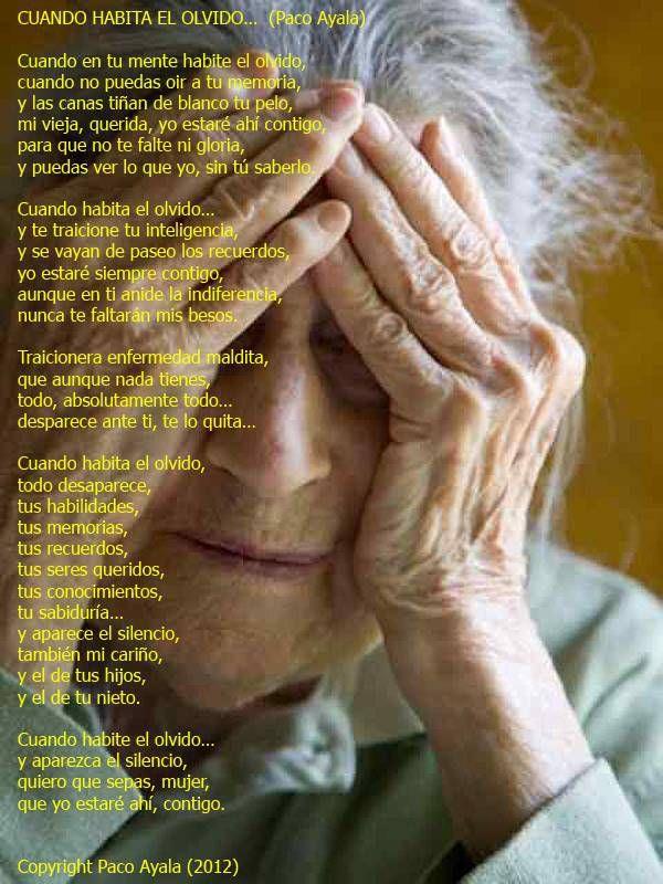 Cuando habita el olvido…Un poema de Paco Ayala | Blog Alzheimer, Enfermería, TNFs y Cuidadores 2.0