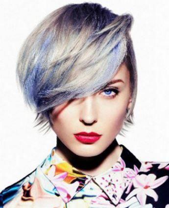 Taglio capelli corti con sfumature di blu inverno 2014