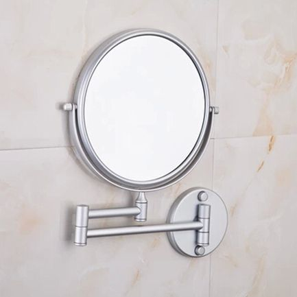 Space Aluminum Wholesale And Retail Bathroom Beauty Magnify Make Up Mirror Wall Mounted Cosmetic