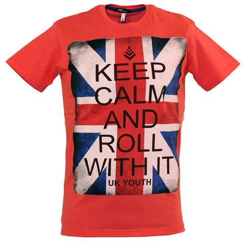 "Ανδρικό T-shirt ""Keep Calm"" μαύρο  http://brands4all.com.gr/collections/mens-t-shirt"