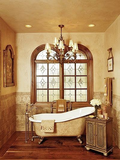 Lovely bathroom with claw foot tub ..
