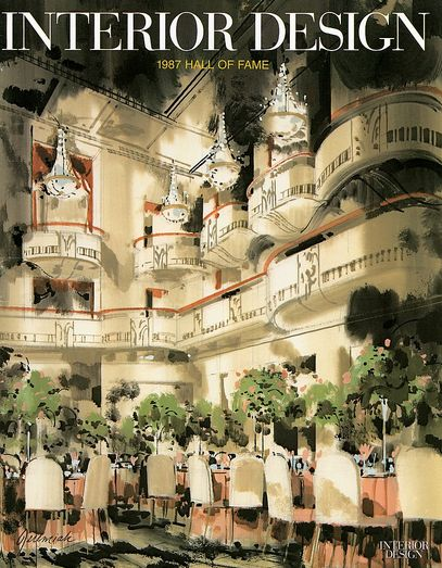 Jeremiah Goodmans Illustration Of The Restored Grand Ballroom At New Yorks Waldorf Astoria Adorns Interior Designs Cover Photography By Eric Laignel