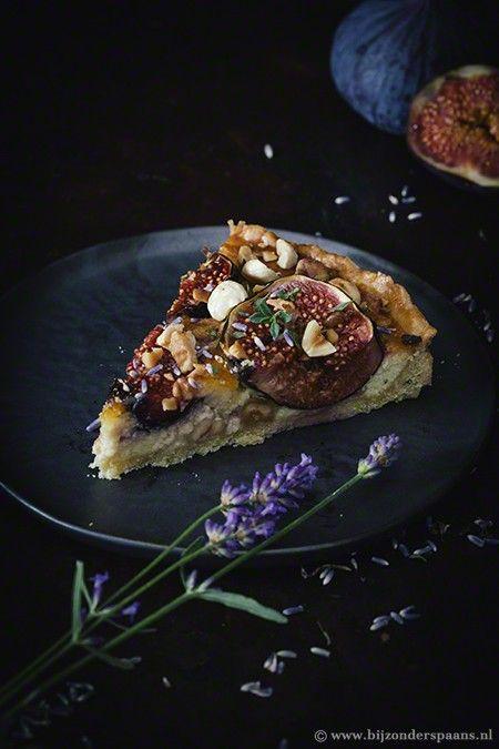 Vijgentaart met lavendel en tijm  Bijzonder Spaans
