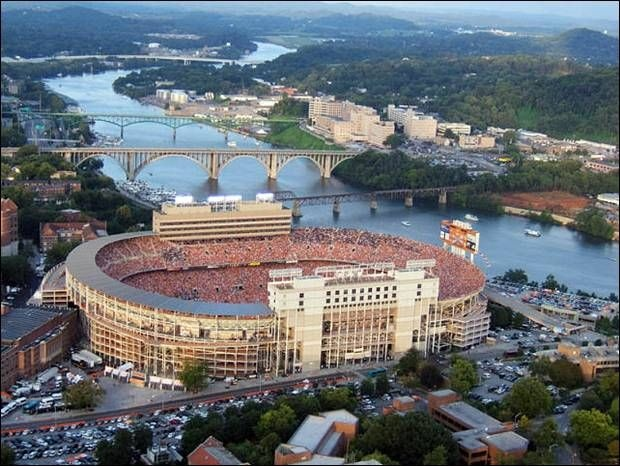 Aerial view of Neyland Stadium - The University of Tennessee. Go Vols!