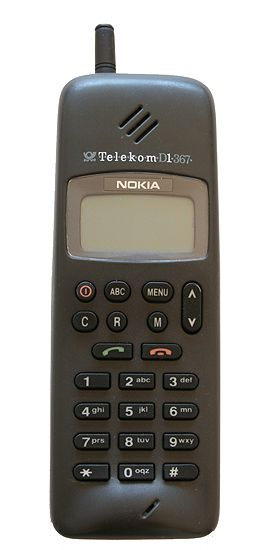 Back to the future with this Nokia 1011 from 1992. I wonder if old shapes will make a come back.
