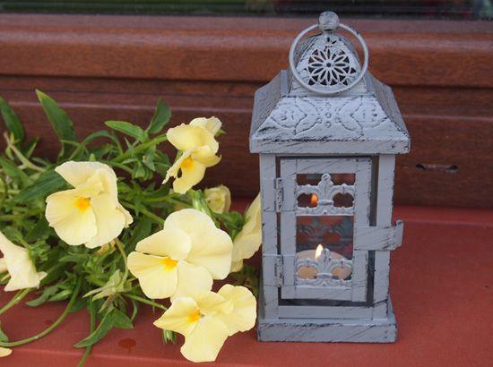 Romantyczny Lampion w Stylu Prowansalskim / Charming lantern for one candle in a Provencal style