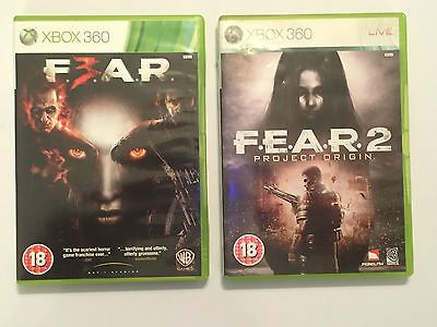 2 x COMPLETE XBOX 360 GAMES FEAR 2 II PROJECT ORIGIN + F3AR / FEAR 3 III PAL GWO