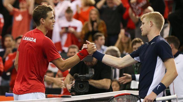Le Canada et la Grande-Bretagne au coude à coude, les Etats-Unis bien partis contre la Suisse - Coupe Davis 2017 - Tennis - Eurosport