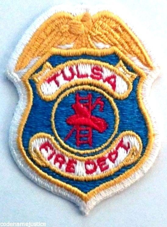 TULSA, OKLAHOMA FIRE DEPARTMENT EMBROIDERED PATCH - NEW #BadgesPatches