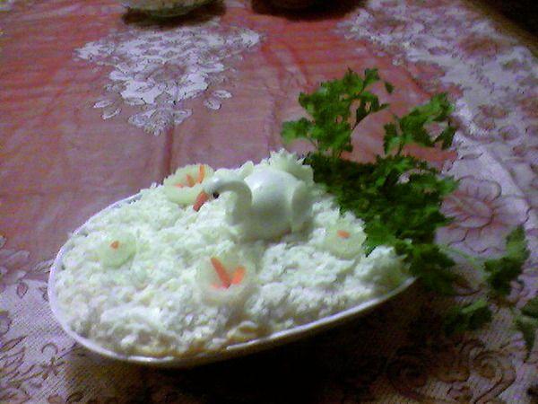 Салат белый лебедь с фото