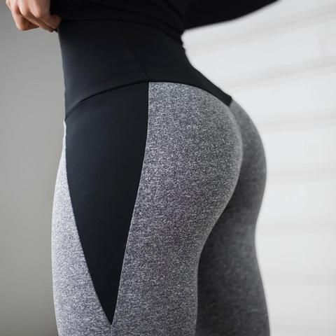Autumn And Winter Patchwork Thick Fitness Leggings 1