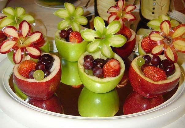 An original idea for serving fruit on a festive table.
