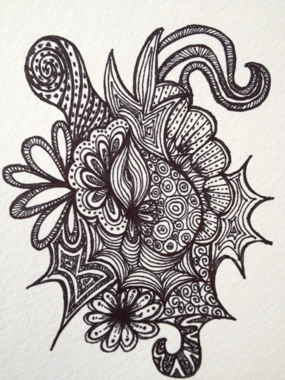 78+ ideas about Abstract Drawings on Pinterest   Feather design ...