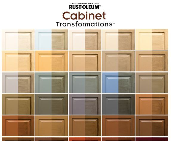 Rust-Oleum's cabinet colors. I think I'll use this on the vanities I can't afford to replace. Seeing the colors split makes me think that I really don't care for the glazed look.