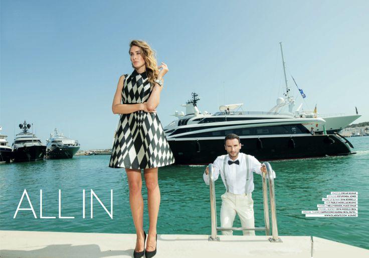Fabulous fashion editorial inside IBIZA STYLE featuring Naughty Dog FW1617 geometric dress!
