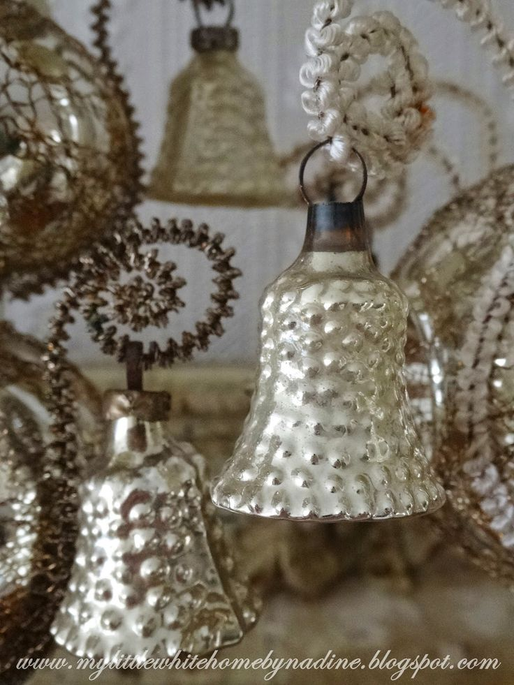 Vintage Silver Christmas Ornaments