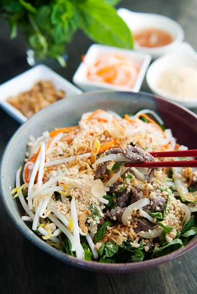 Vietnamese Bun Bo Xao Beef Noodle Salad | use real butter #Noodle_Bowl