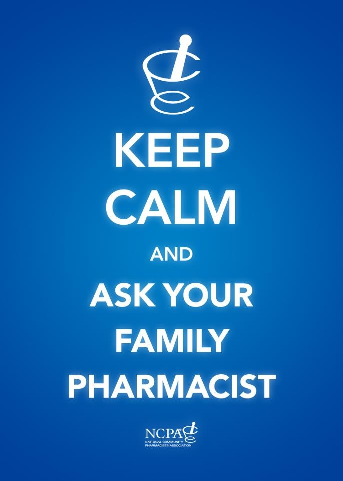 The friendly, accessible pharmacists at Harrold's are a great health resource...remember to check in with them! (Great promo piece from National Community Pharmacists Association (NCPA))
