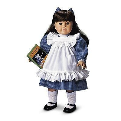 Samantha American Girl Doll BLUE PLAY DRESS AMERICAN GIRL TAG RETIRED