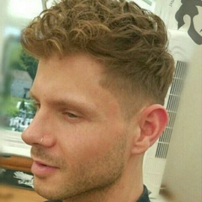 Curly Short Fringe Hairstyle Men