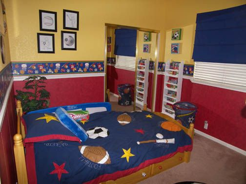 The Cool Picture Designs Of Boy Room Decor Ideas More Amazing: Sport  Children Bedroom Furniture Baseball Designs Yellow Color Wall Small Some  Picture Frame ...