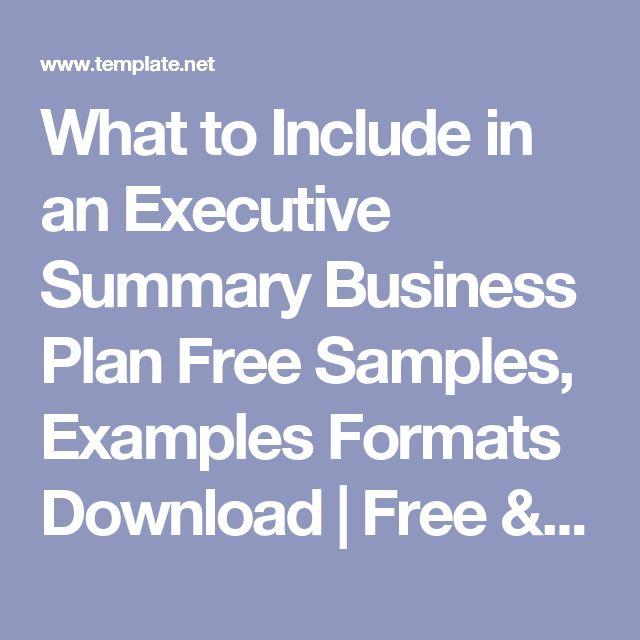 Více než 25 nejlepších nápadů na Pinterestu na téma Free sample - free executive summary template