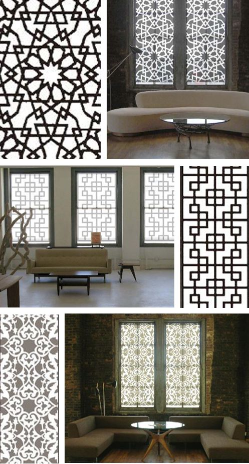Islamic mosaic window grills