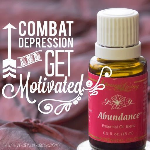 Combat depression and get motivated with Young Living Abundance Essential Oil  For more info:  http://facebook.com/JoyDroppers