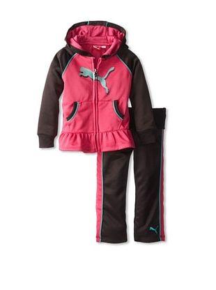 44% OFF Puma Girl's Peplum Hoodie Set (Fuchsia)