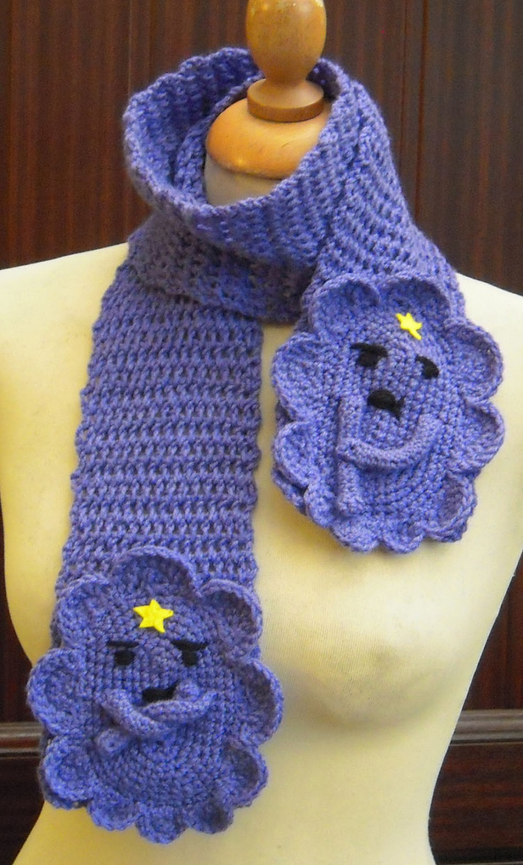 Crochet Lumpy Space Princess from Adventure Time Scarf - Made to Order. $27.00, via Etsy.