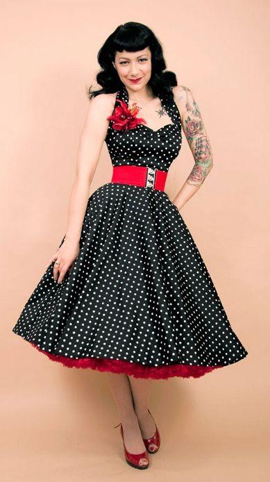 Rockabilly girl in swing dress