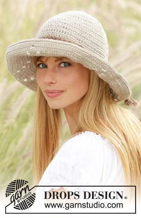 Cappello uncinetto berretto in lino accessorio di Lallallero