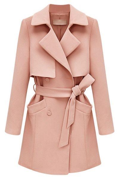 Solid Oversized Longline Overcoat by: Oasap #shop