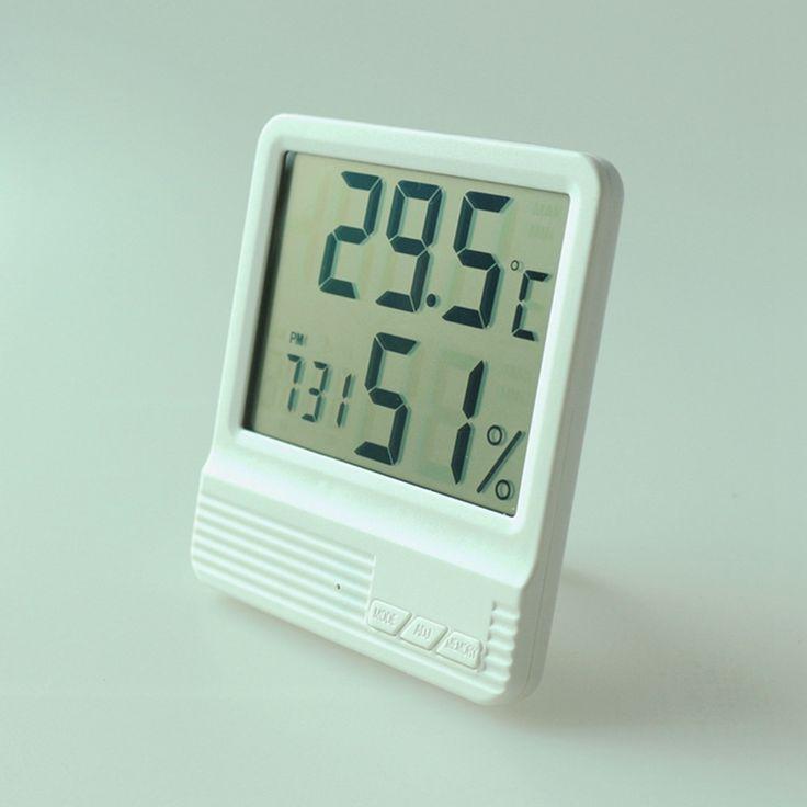 Neue Indoor Thermometer Hygrometer wecker LCD Digitalanzeige Temperatur-Und Feuchtigkeitsmessgerät 14 ~ 158F Wetterstation Termometro