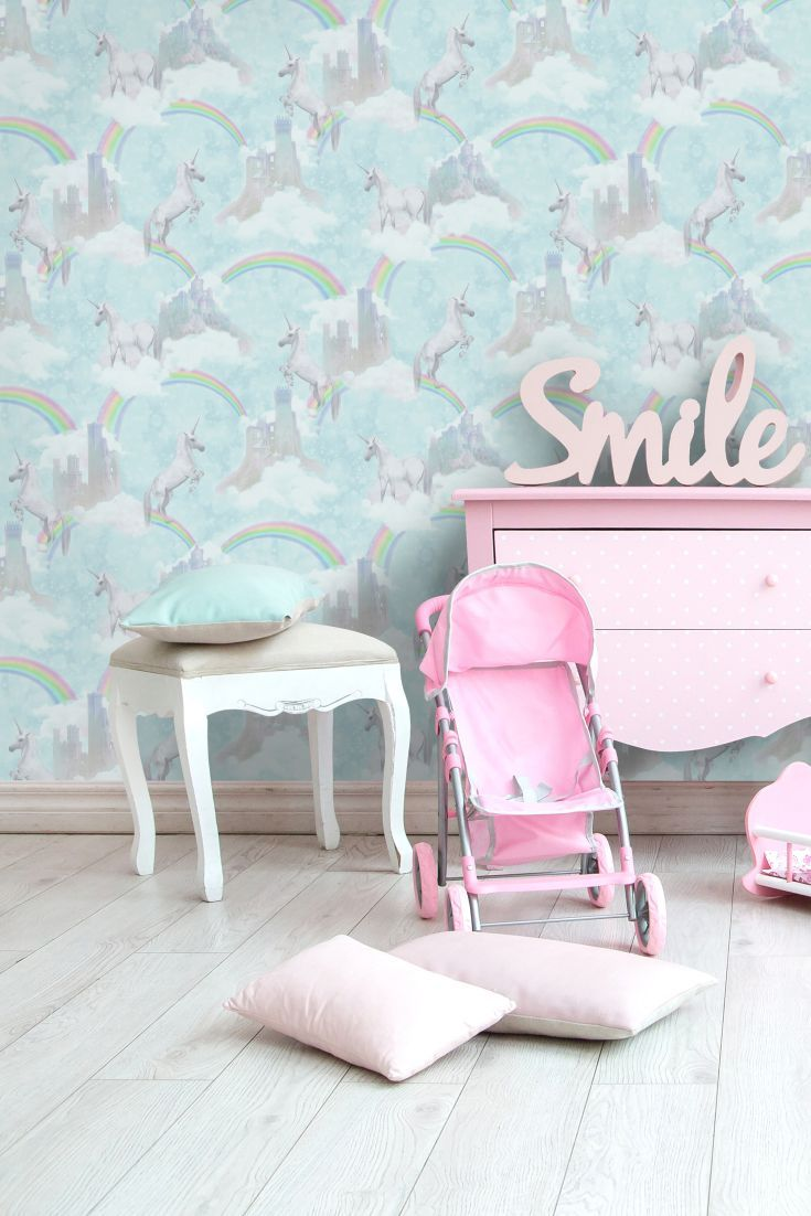 I Believe In Unicorns By Albany Teal 12481 Room Wallpaper