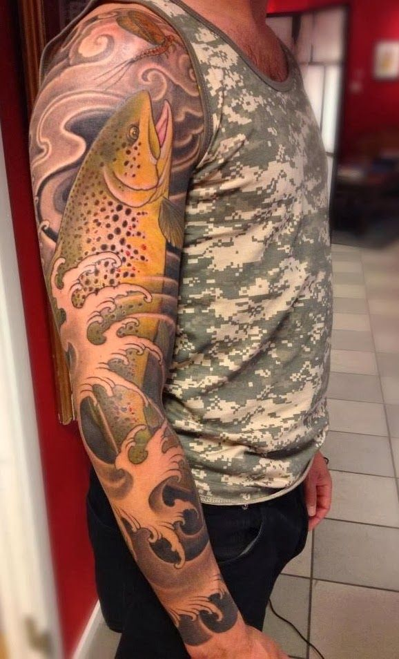 60 best fly fishing tattoos images on pinterest fly fishing tattoos fishing and tattoo ideas. Black Bedroom Furniture Sets. Home Design Ideas