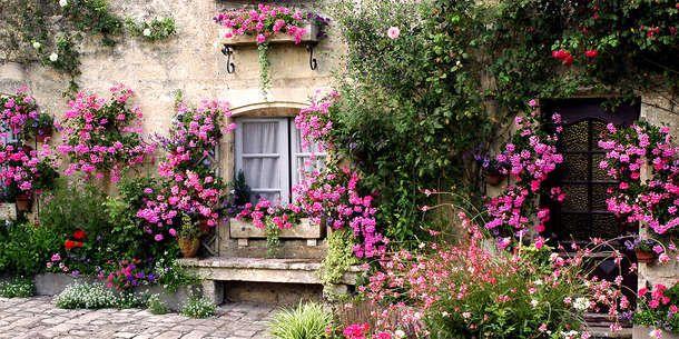 Tuinposter 'Bloemenmuur '