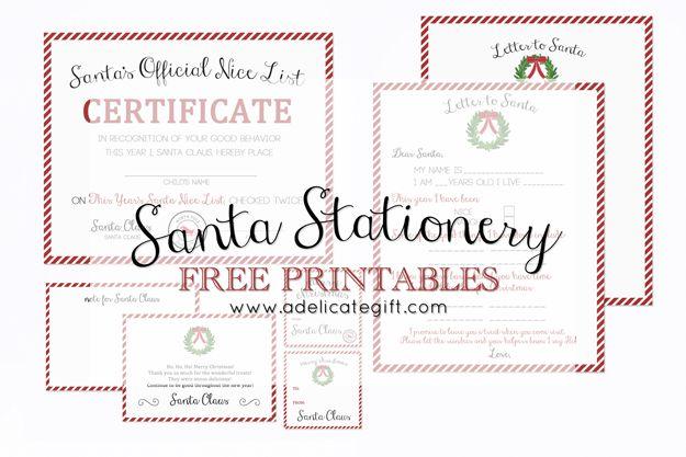 SANTA FREE PRINTABLE STATIONERY