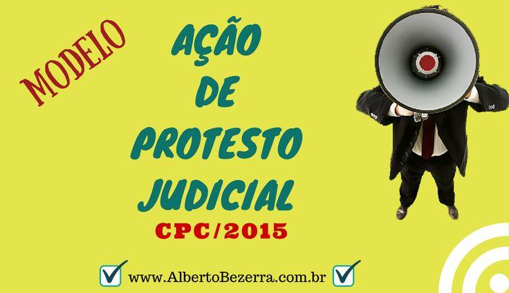 Protesto Judicial Modelo Novo CPC/2015