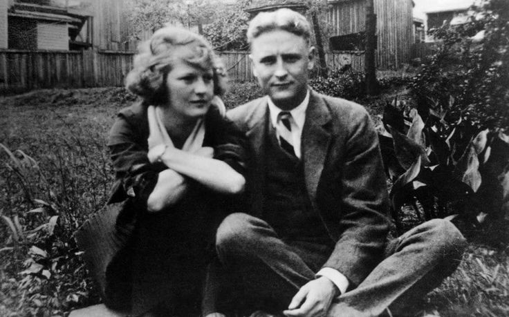 F. Scott Fitzgerald, author of the Great Gatsby with his wife Zelda