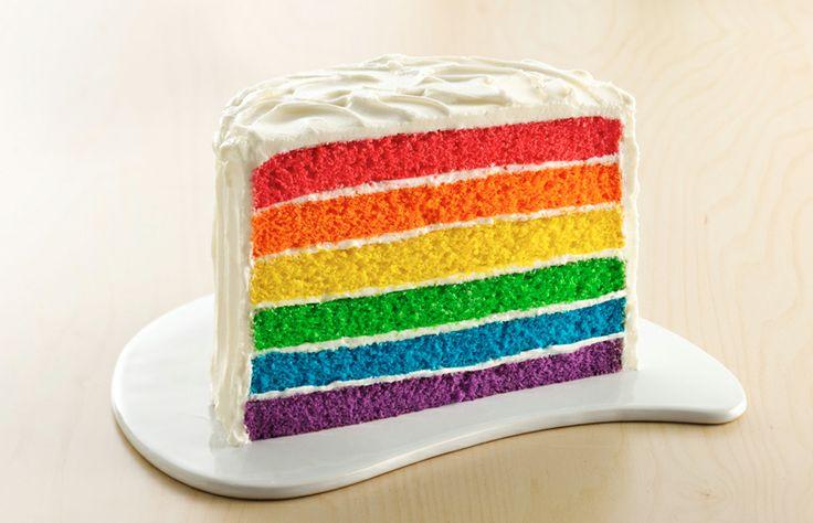Rainbow Layer Cake | Betty Crocker | Yummy Sweets | Pinterest